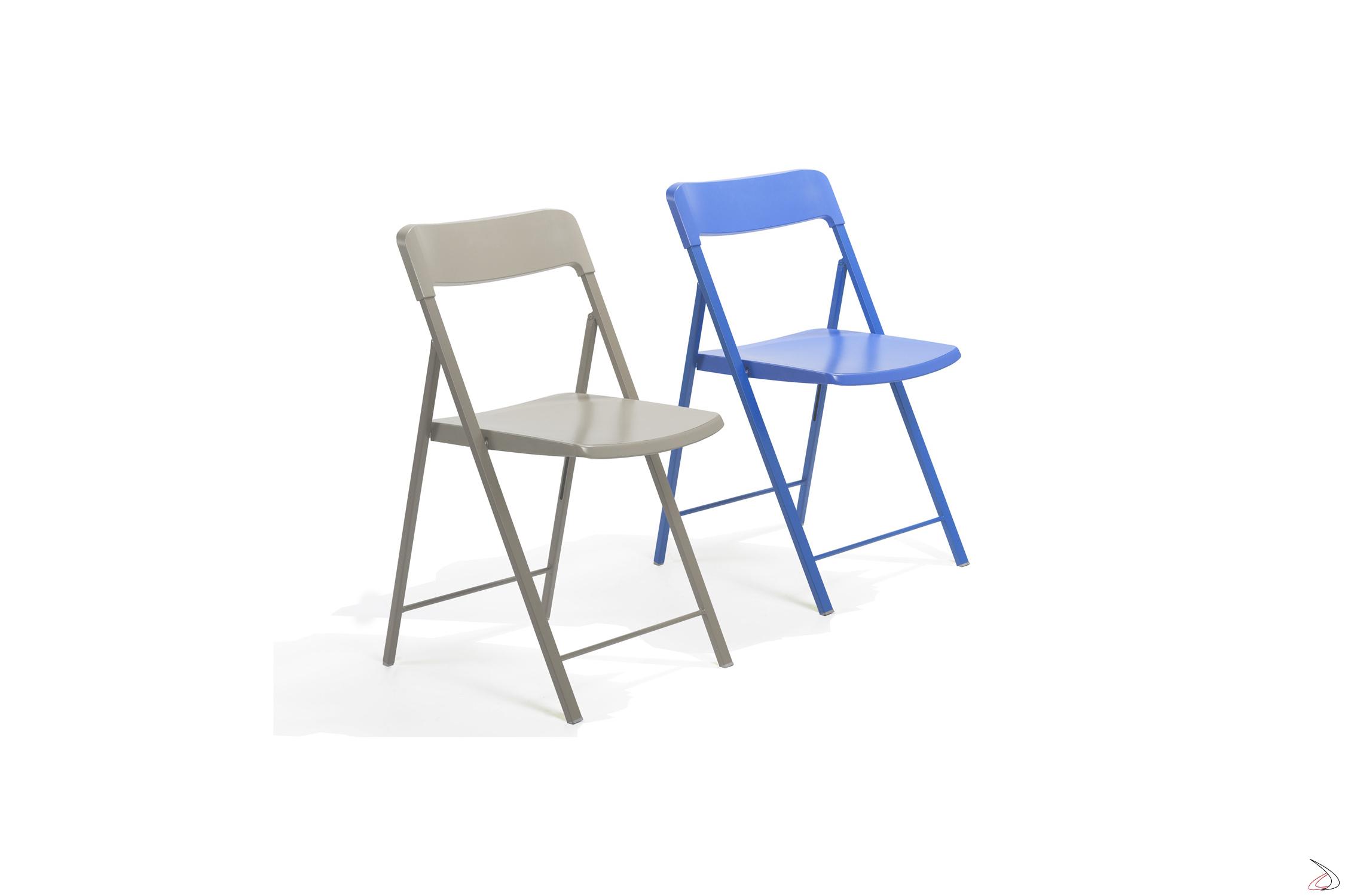 Sedie Acciaio E Plastica.Zeta Folding Chair In Polypropylene Toparredi Arredo Design Online