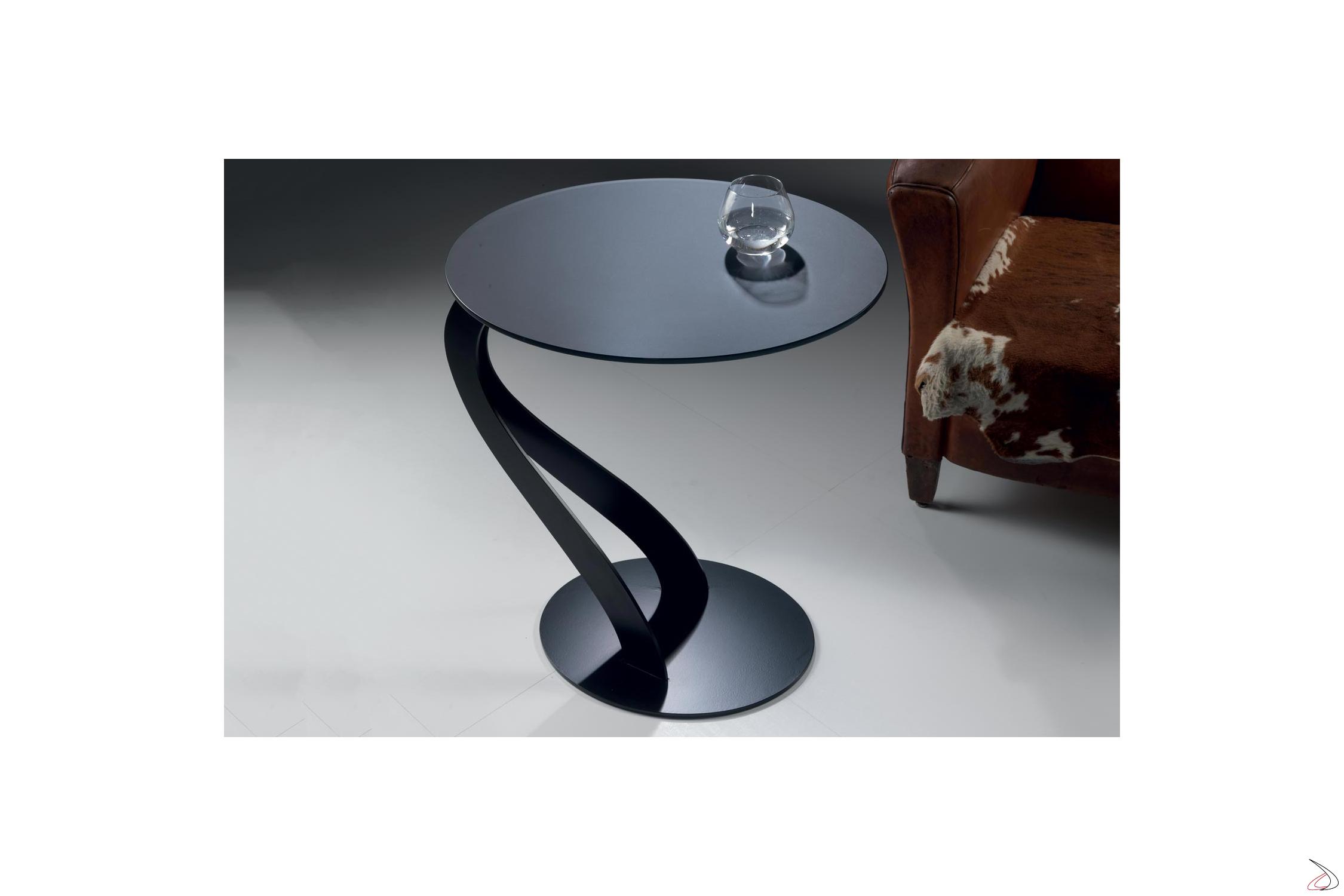 Tavolini Da Salotto Divani E Divani.Tavolino Alto Di Design In Vetro Da Divano Swam Toparredi