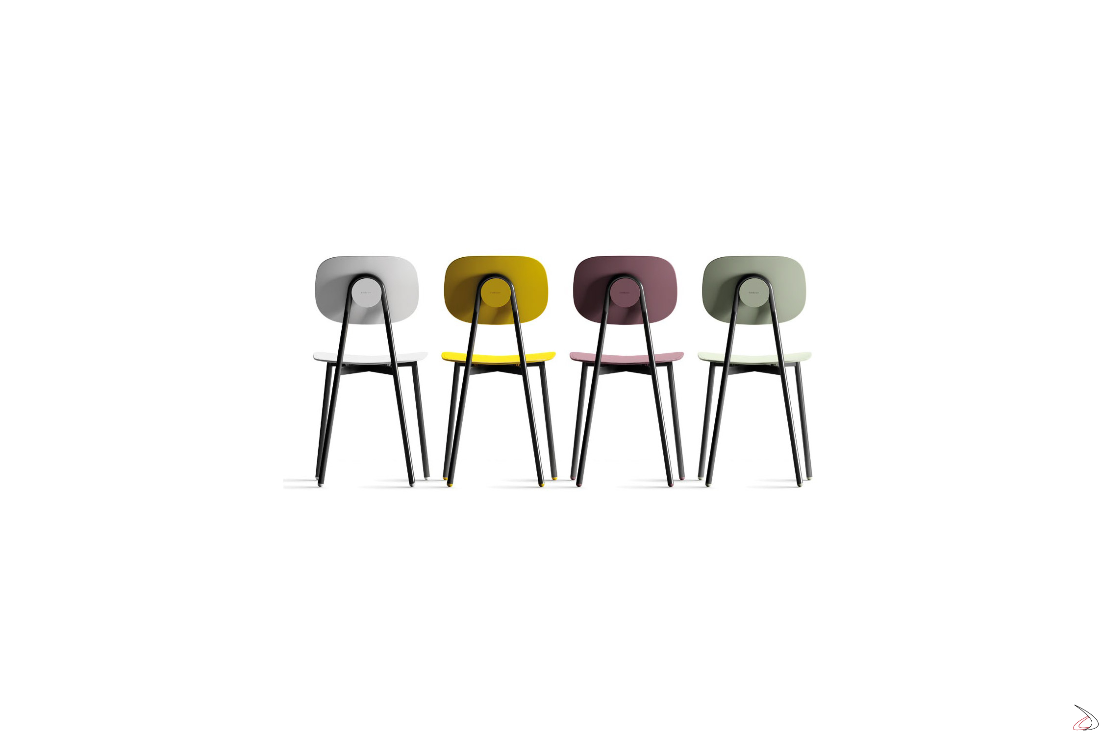 Tavolo Bianco Con Sedie Colorate.Tata 4 Chair With Simple Seat Suitable For Every Taste Toparredi