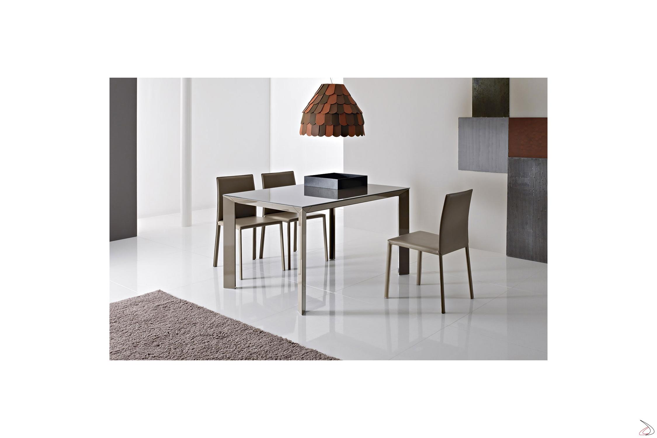 Tavolo Cucina Allungabile Vetro.Diamante Extendable Living Table Toparredi Arredo Design Online
