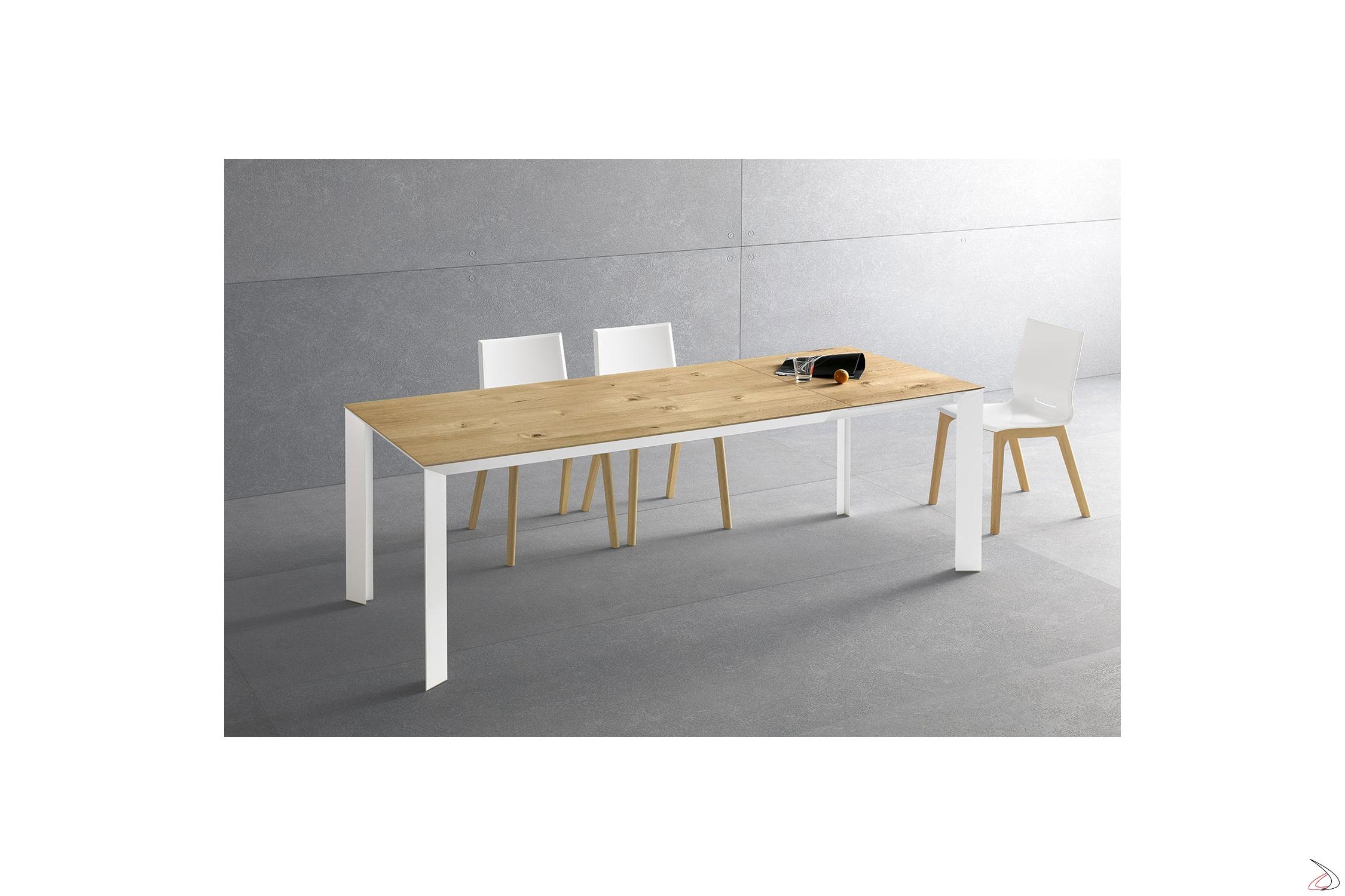 Tavolo Bianco In Legno diamante table