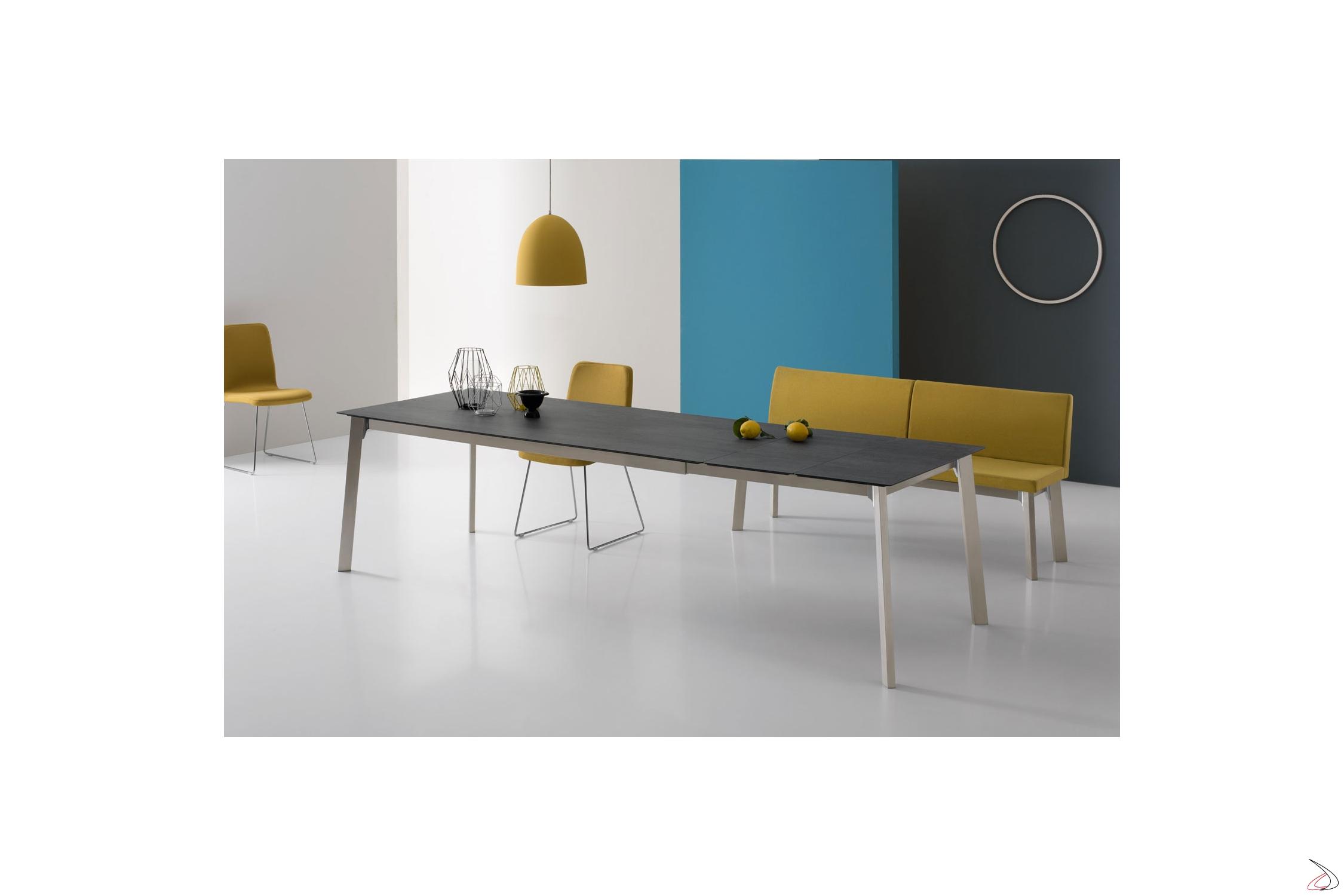 Krono Ausziehbarer Tisch Aus Stahl Glas Oder Keramik Toparredi
