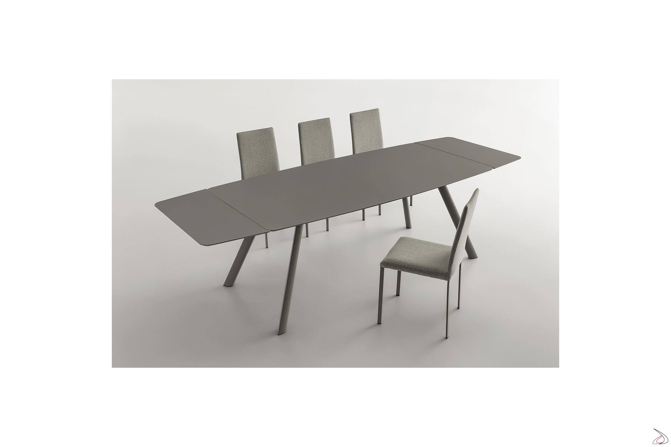 Gambe Per Tavoli In Alluminio.Tavolo Allungabile Con Gambe In Alluminio Nippo Toparredi