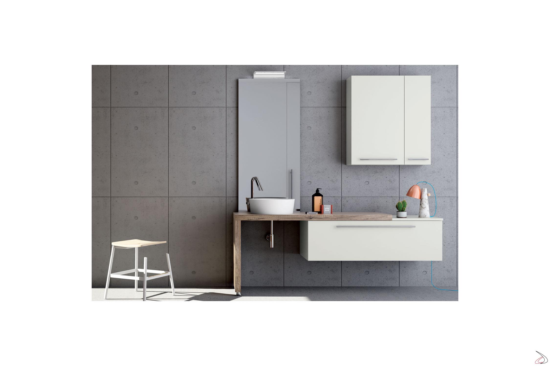 Arredo Gamma Office Srl.Dudley L Shaped Bathroom With Counter Toparredi Arredo Design
