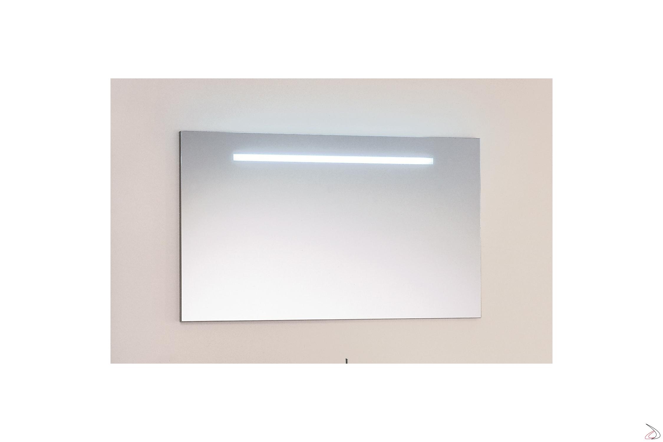 Specchio Bagno Con Lampada.Specchio Con Luce Neon Da Bagno Lige Toparredi Arredo Design