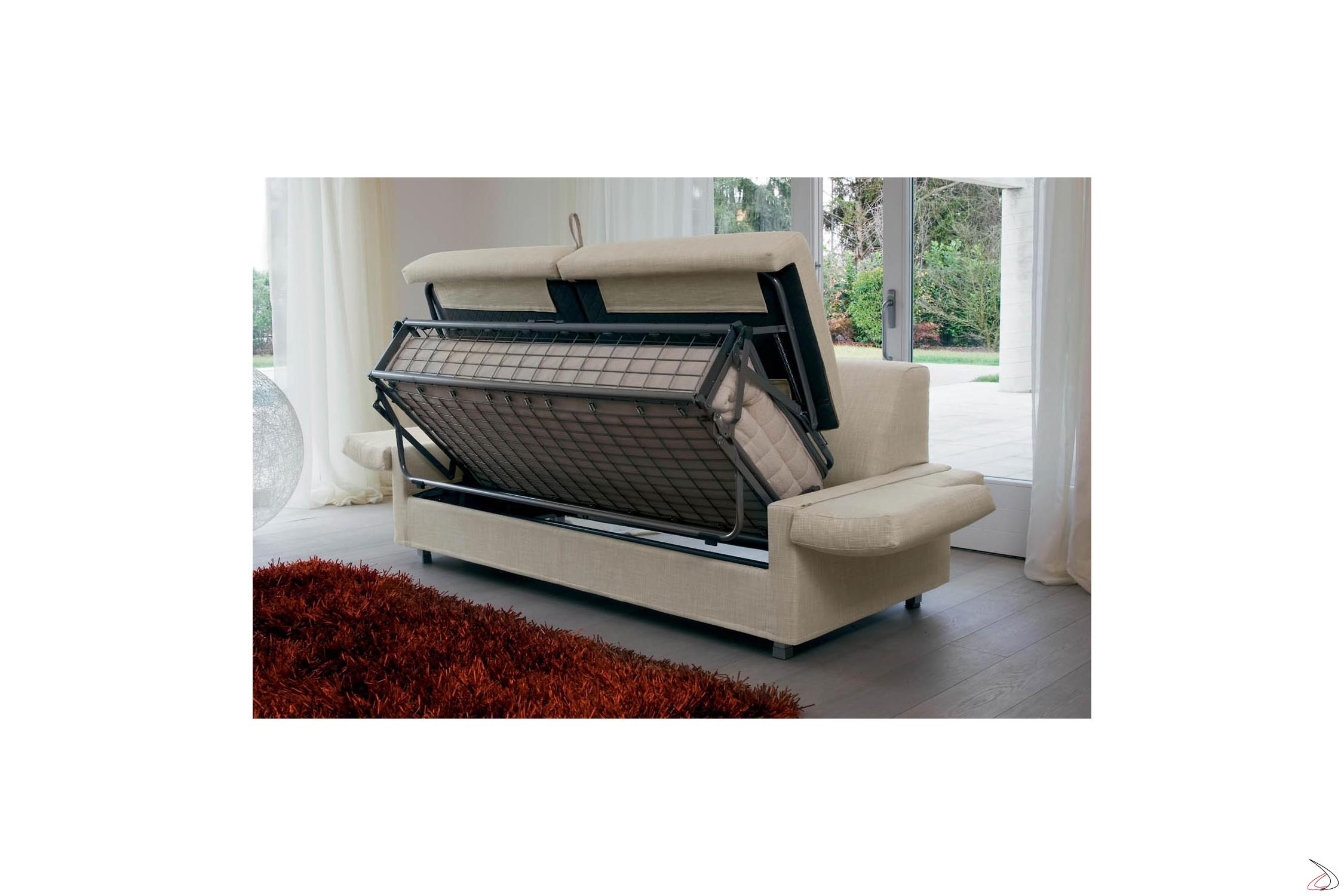 Divano Letto Con Materasso Ortopedico.Cougar Sofa Bed With Low Armrests Toparredi Arredo Design Online