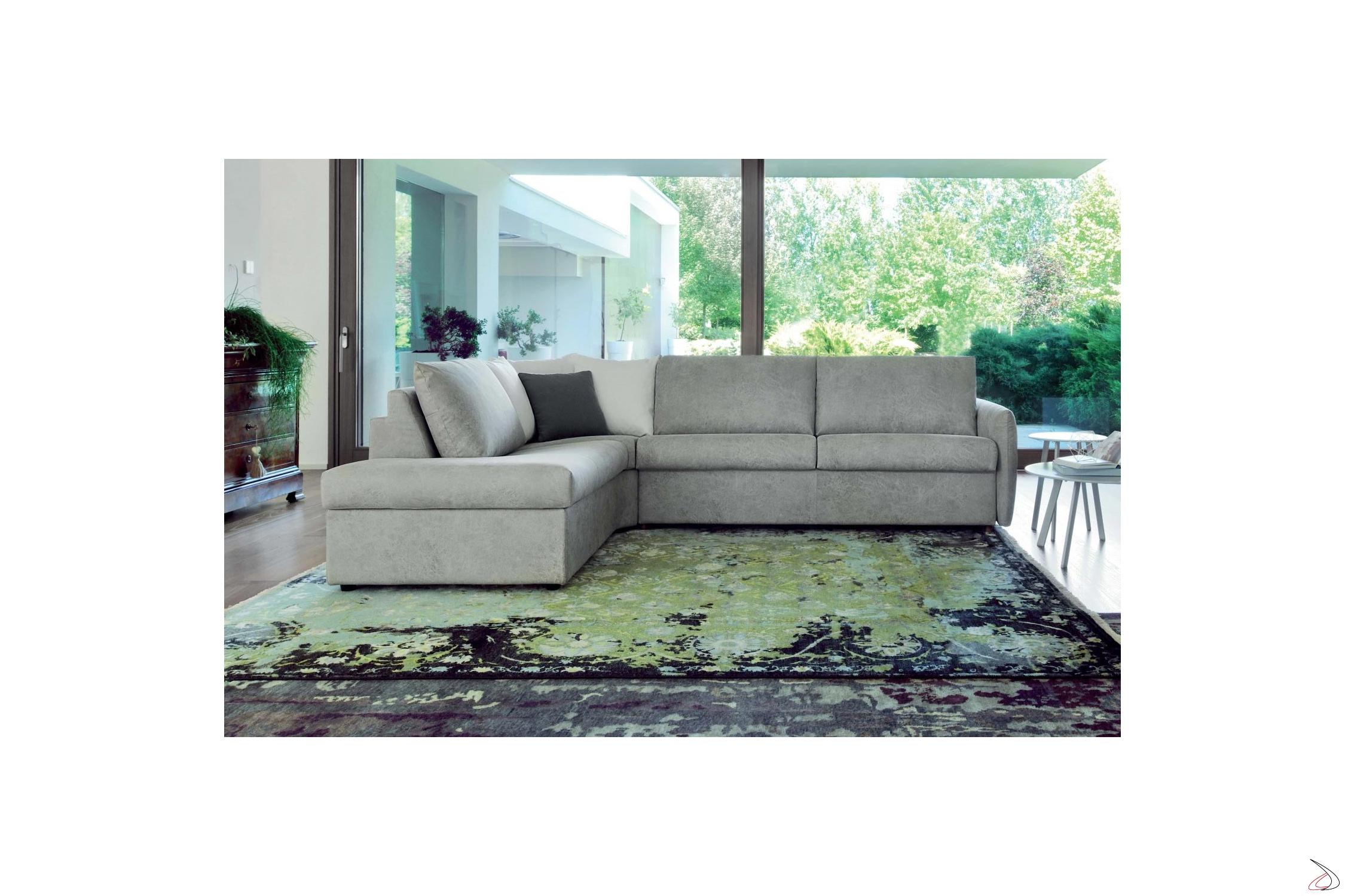 Divano Letto Design.Alvise Sofa Bed With Chaise Lounge Toparredi Arredo Design Online