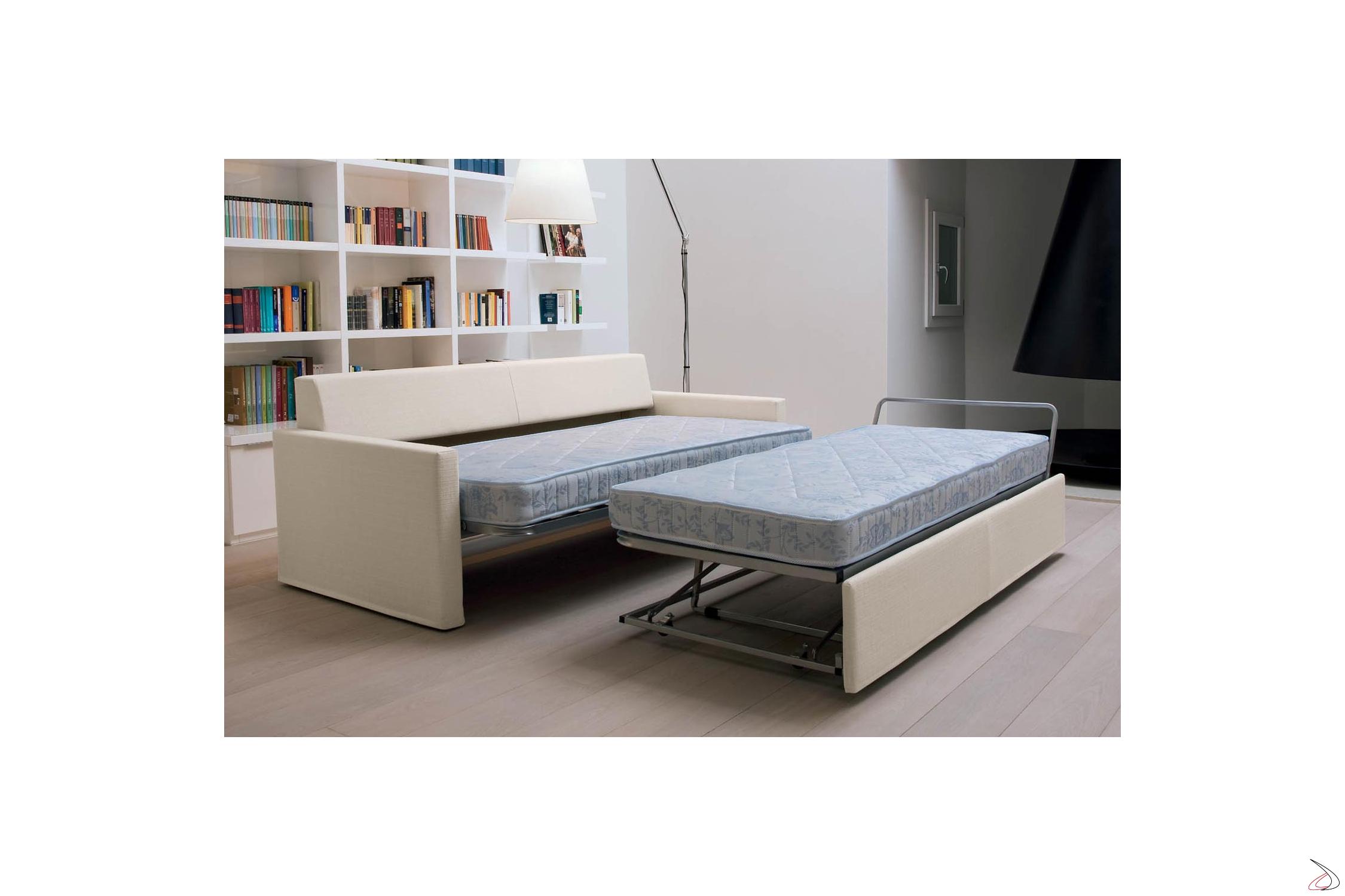 Divano Letto Con Materasso Ortopedico.Sofa Convertible Into 2 Paiper Beds Toparredi Arredo Design Online