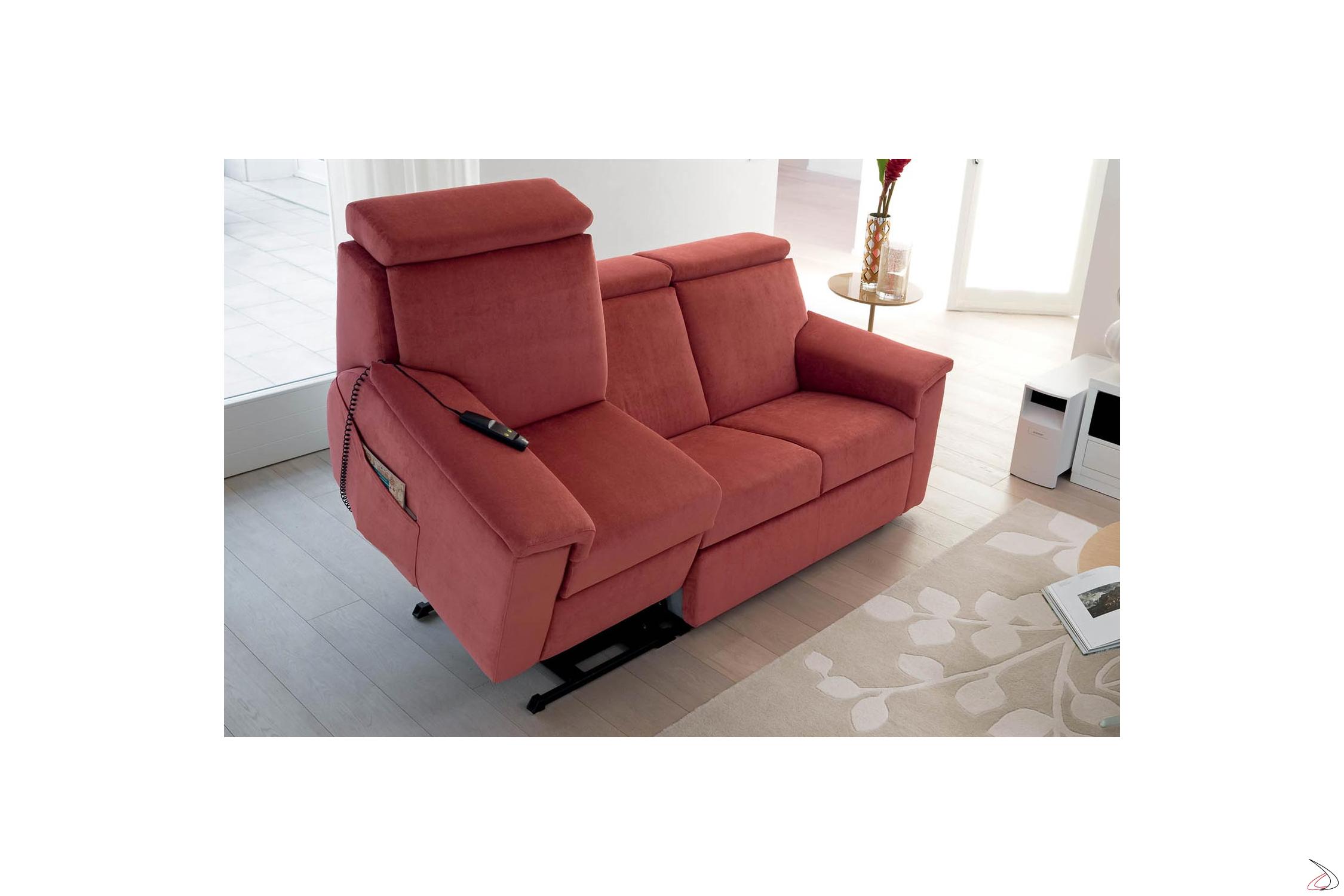 Divano Letto Meccanismo Elettrico.Relax Sofa With Argo Uplift Person Toparredi Arredo Design Online