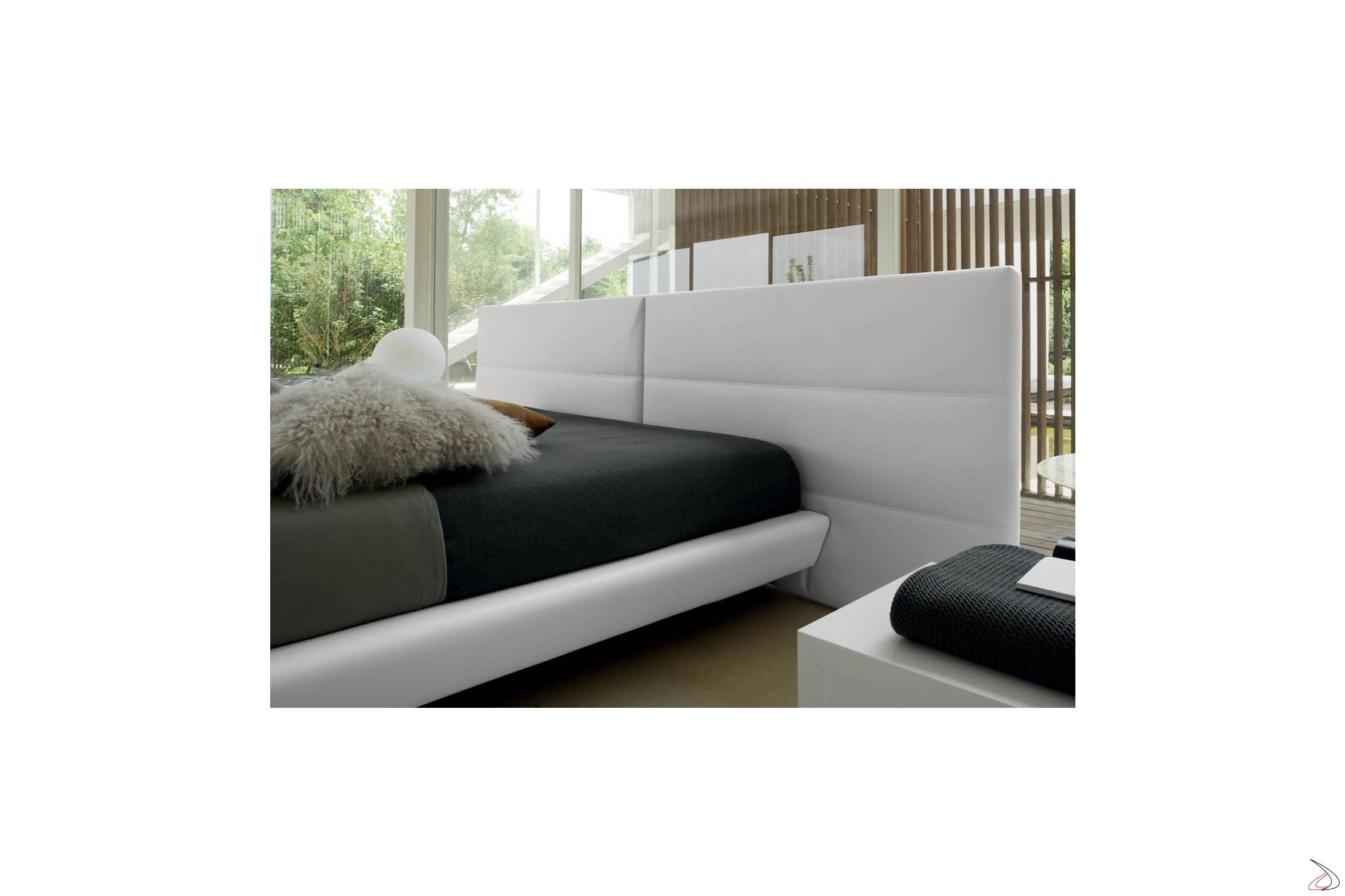 Testata Letto Design.Design Bed With Wide Cosimo Headboard Toparredi Arredo Design