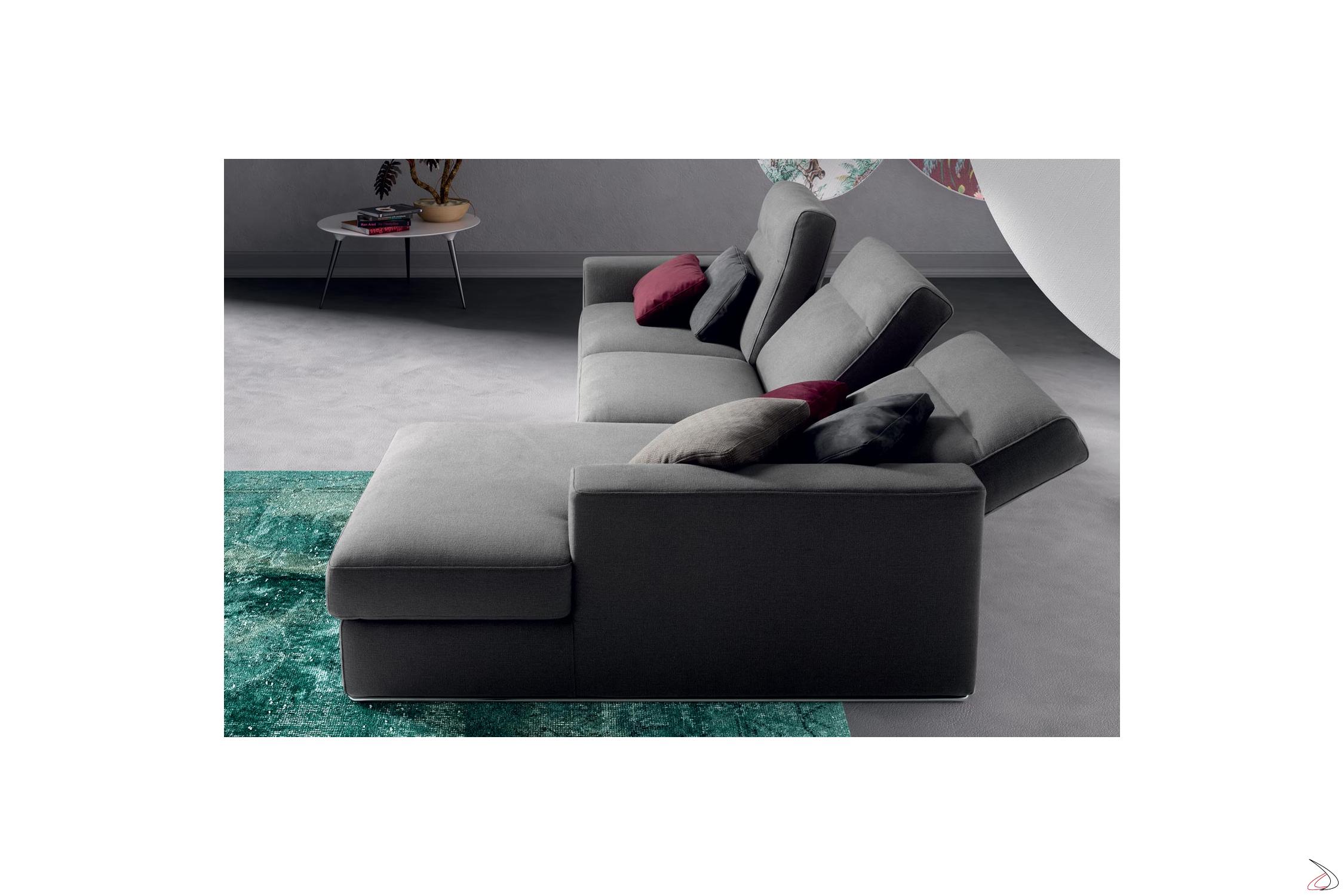 Divano In Pelle Con Recliner.Tash Reclining Peninsula Sofa Toparredi Arredo Design Online