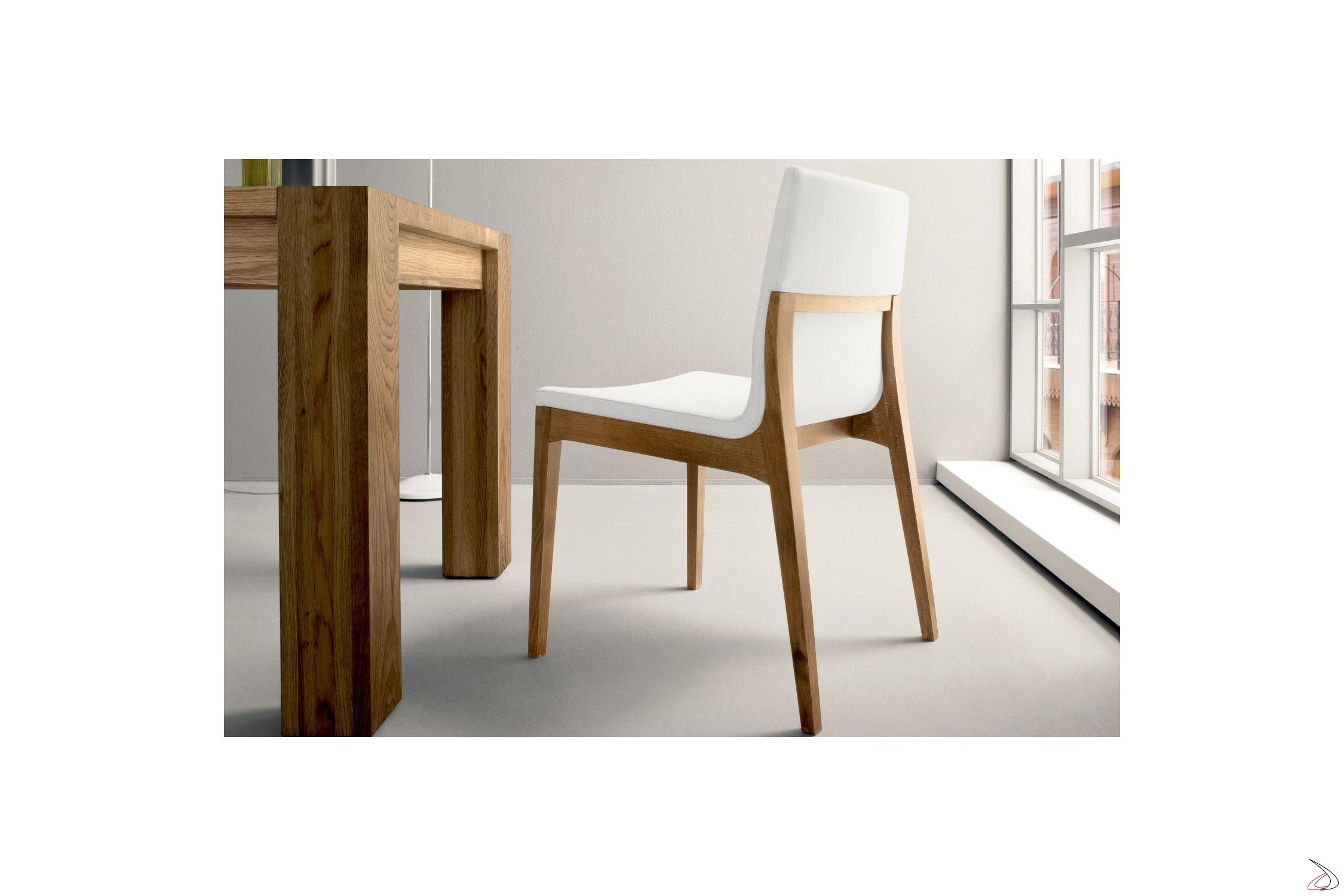 Sedie Da Soggiorno In Legno.Sedia Design Da Soggiorno Rocci Toparredi Arredo Design Online