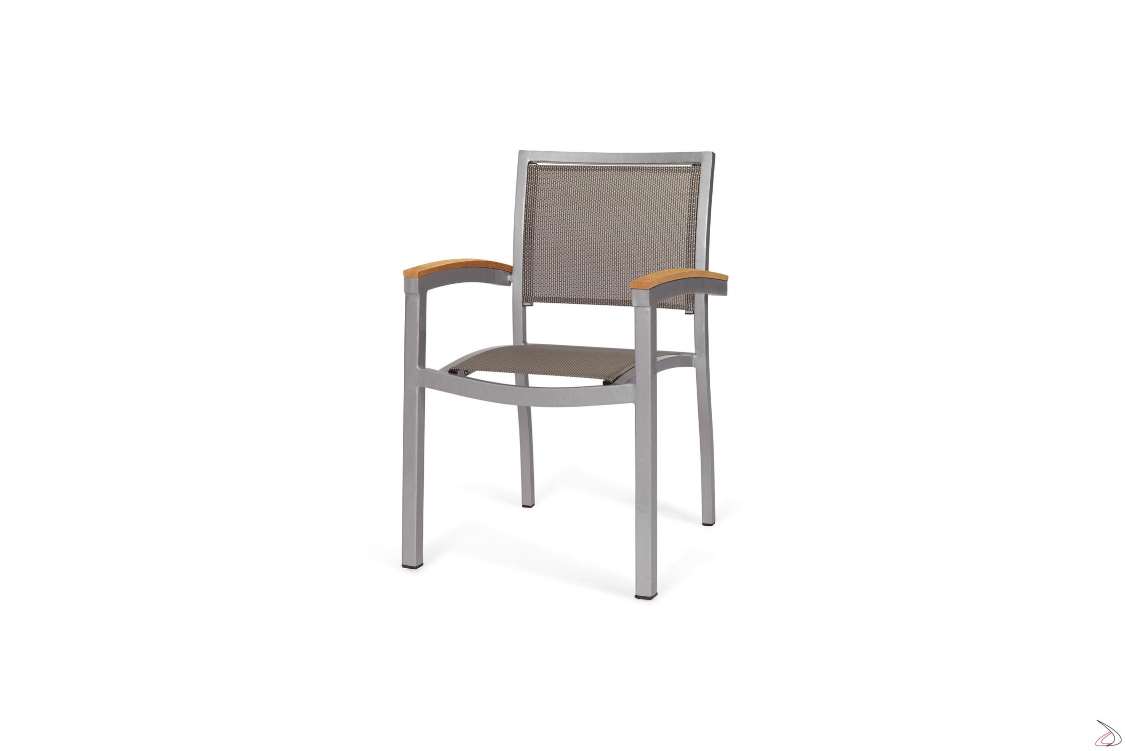 Sedie Legno Da Esterno.Sedia Moderna Per Esterno Odissea Toparredi Arredo Design Online