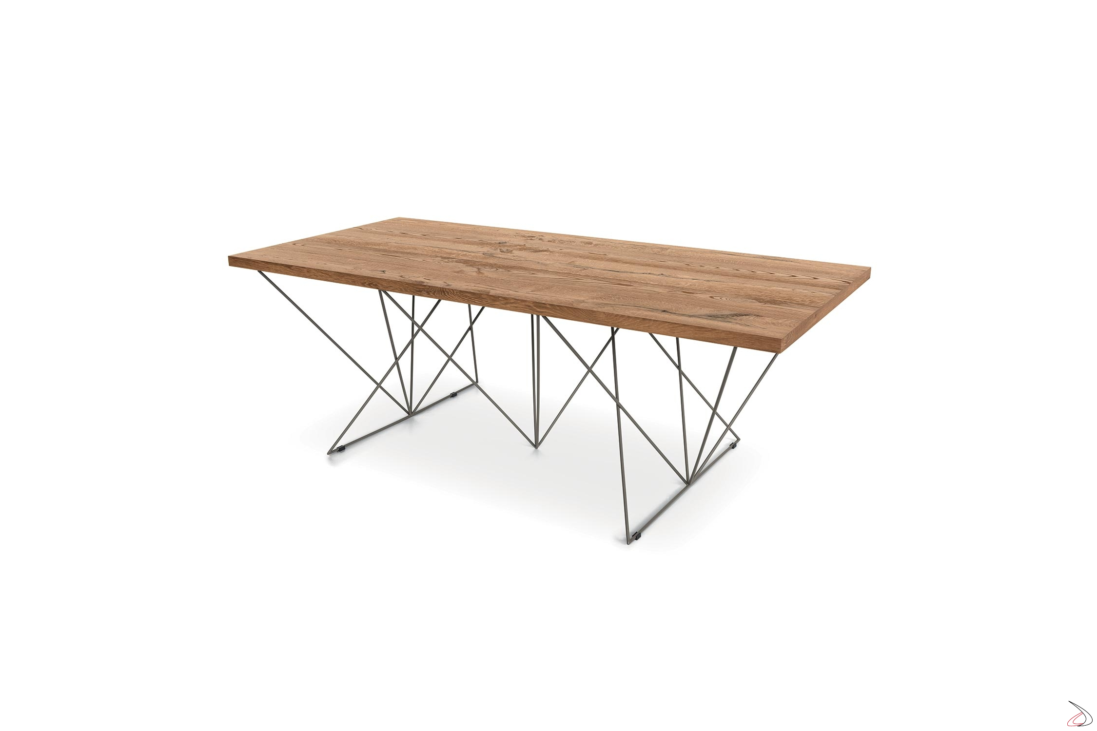 Tavolo Di Design Con Basamento In Tondino Di Ferro Prink Toparredi