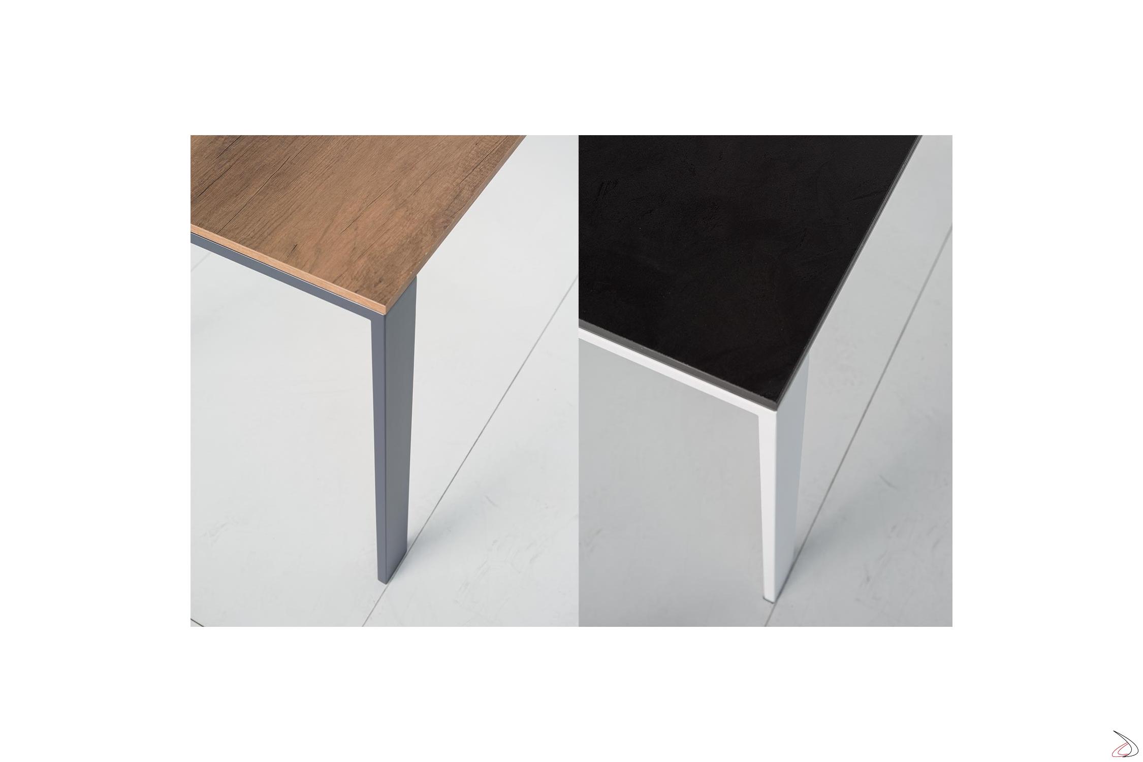 Tavolo Allungabile Vetro Satinato.Extendable Living Room Table With Modern Sangy Design Toparredi