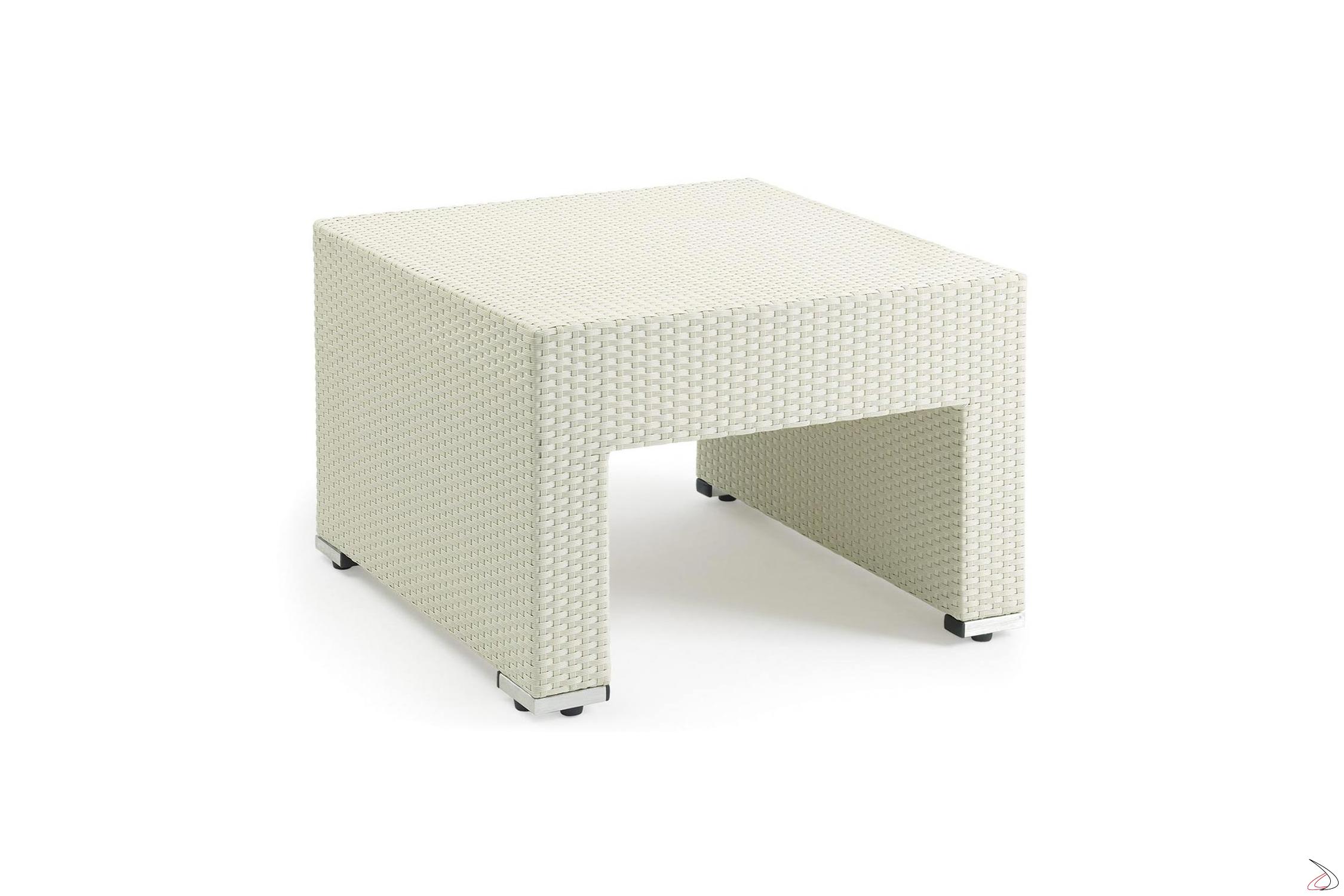 Tavolo In Rattan Bianco.Tavolino Da Esterno In Vimini Cube Toparredi Arredo Design Online