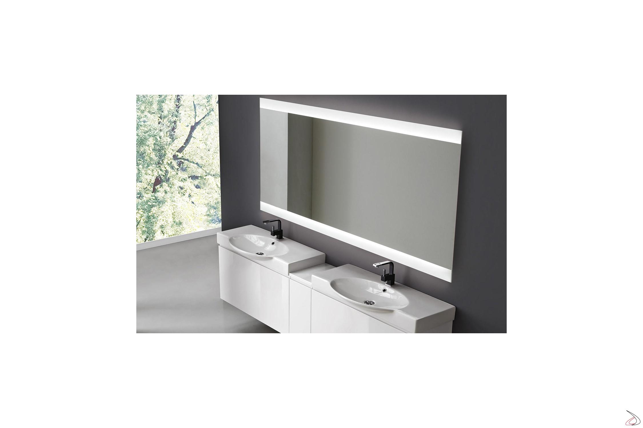 Specchio Bagno Retroilluminato Prezzi.Specchio Retroilluminato Con Cassa Vibrante Vela Toparredi