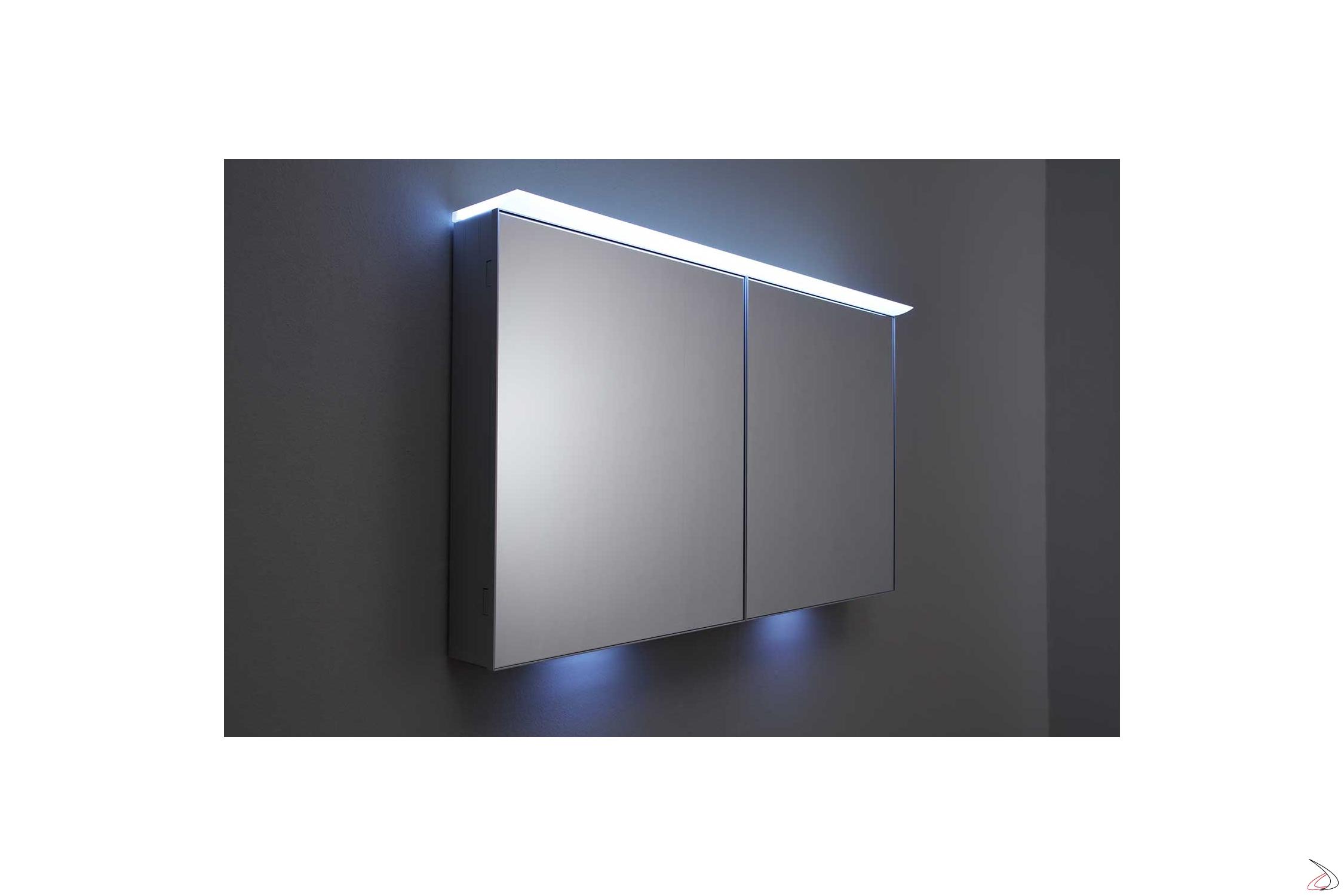 Specchio Bagno Contenitore Led.Specchio Bagno Contenitore Con Luce Led Polaris Toparredi