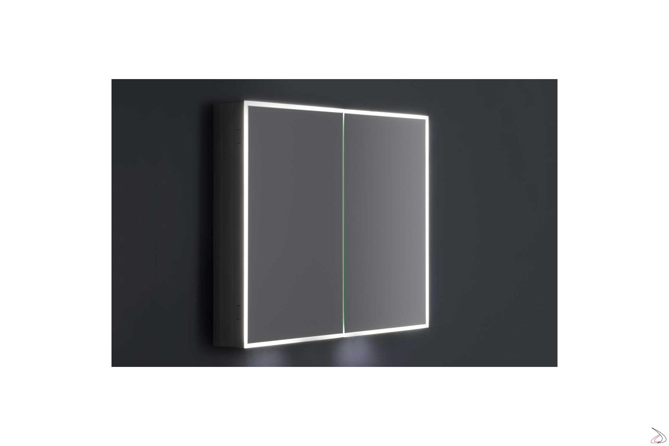 Specchio Bagno Contenitore Led.Bathroom Mirror Mirror With Stardust Light Toparredi Arredo