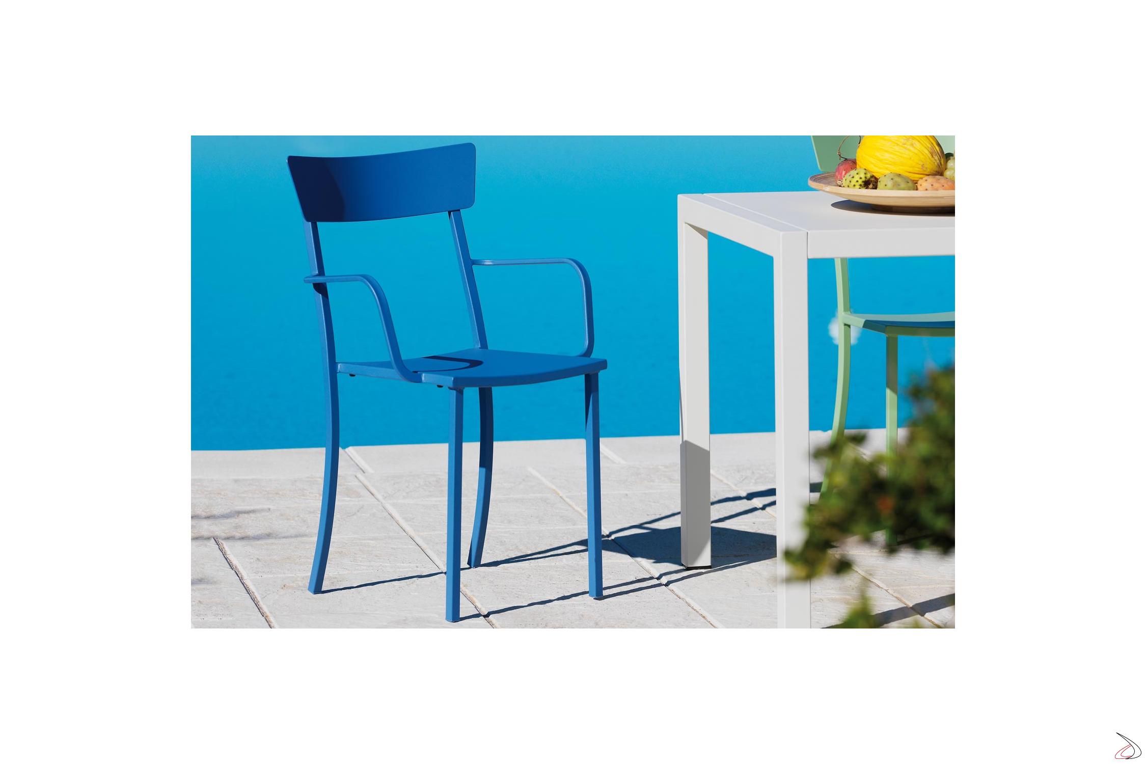 Sedie Da Esterno Colorate.Mogan Outdoor Metal Chair Toparredi Arredo Design Online