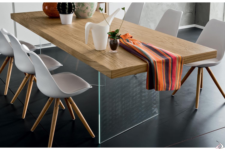 Tavoli Per Soggiorno Vetro.Tavolo Design In Legno Grezzo Narciso Toparredi Arredo Design
