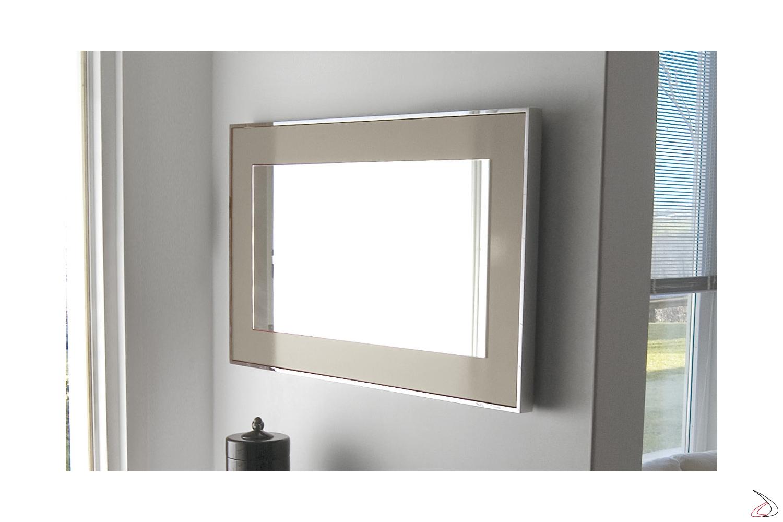 Specchio di design quadrata da ingresso con cornice
