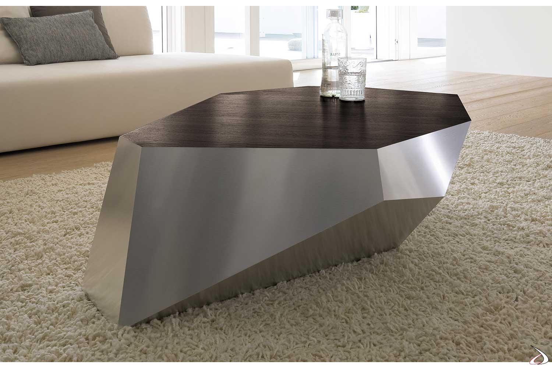 Tavolini Da Salotto Arredamento.Tavolino Da Salotto In Legno E Alluminio Diamante Toparredi