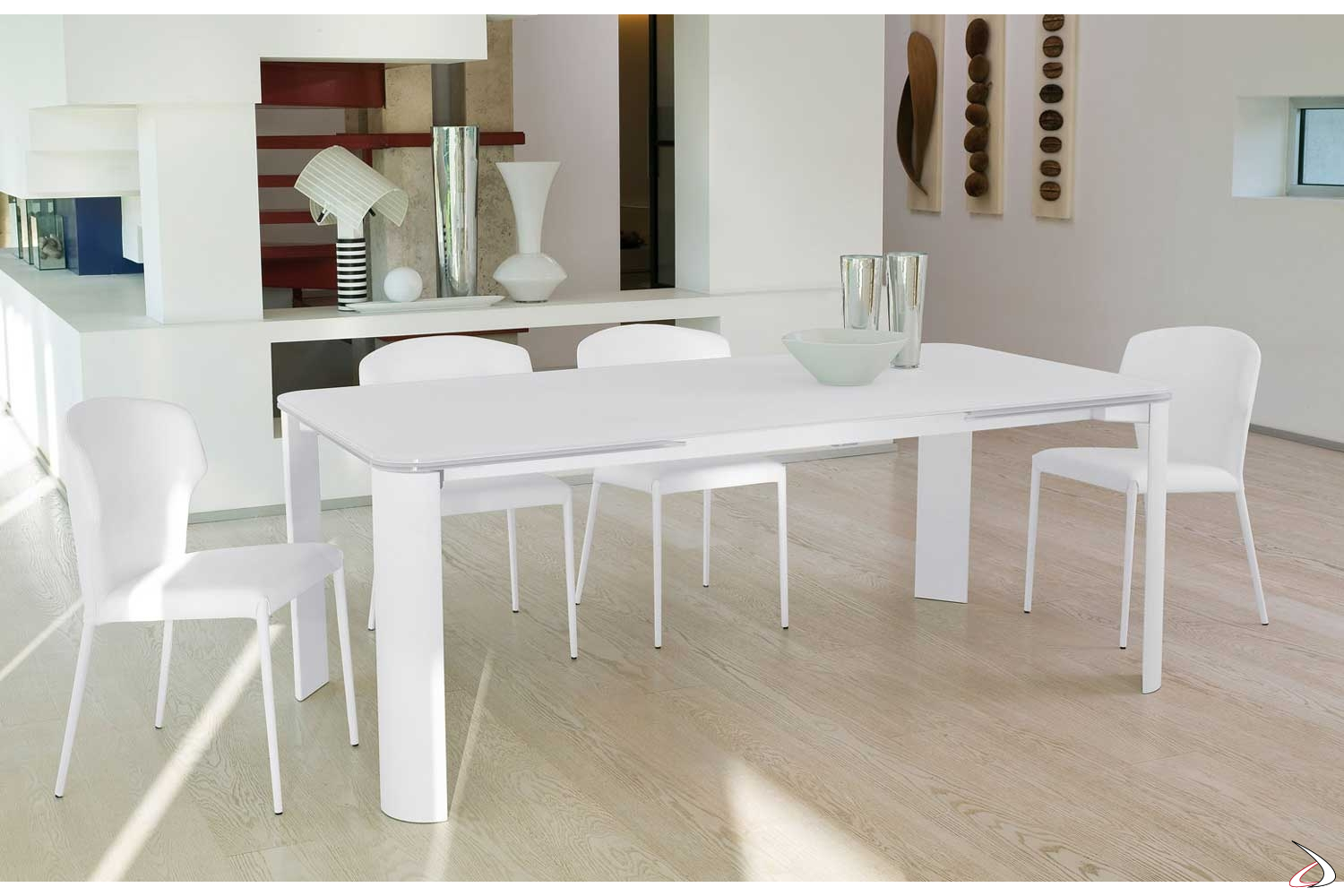 Tavolo In Vetro Bianco Allungabile.Arthur Design Extendable Crystal Table Toparredi Arredo Design