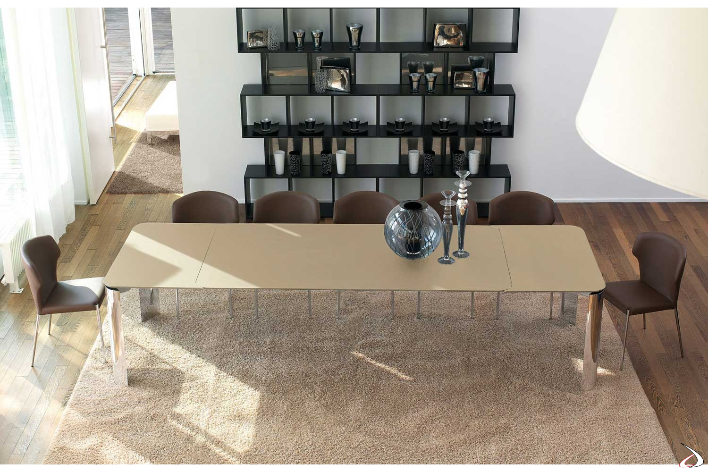 Tavoli Allungabili In Vetro Cristallo.Arthur Design Extendable Crystal Table Toparredi Arredo Design