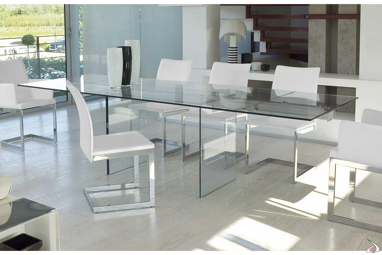 Tavolo Vetro Trasparente Allungabile.Miami Transparent Extending Coffee Table Toparredi Arredo
