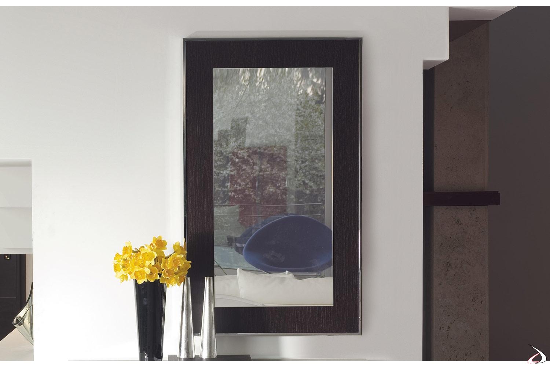 Specchiera moderna rettangolare con cornice