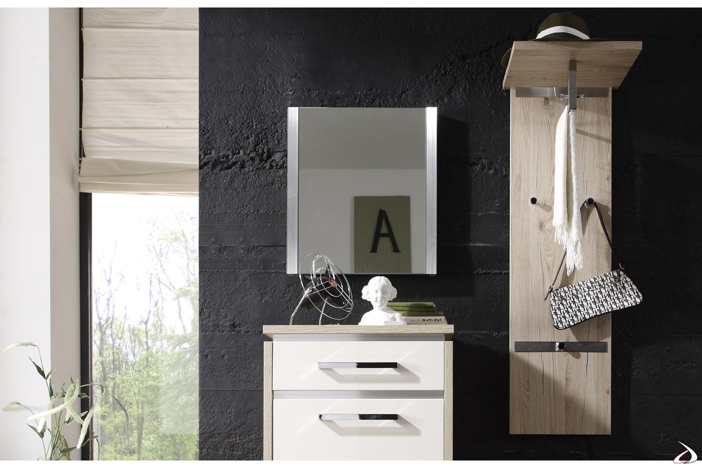 Appendiabiti design a muro in legno