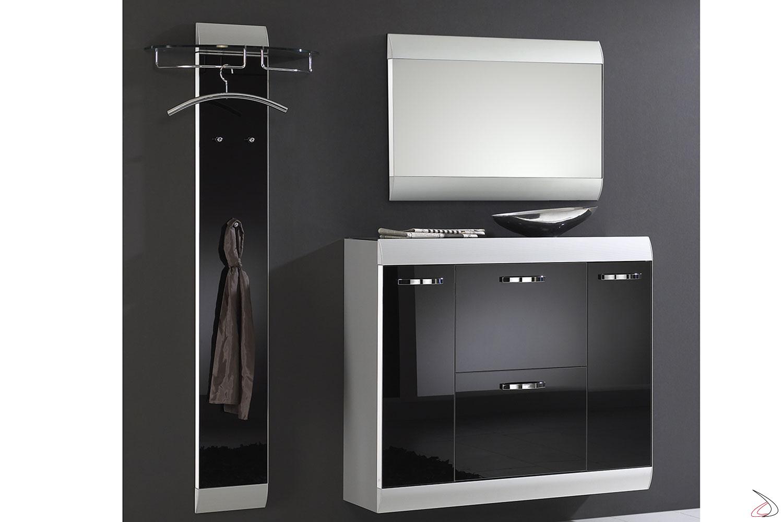 Modello di entratina Orbit con appendiabiti, scarpiera e specchio Orbit-2.