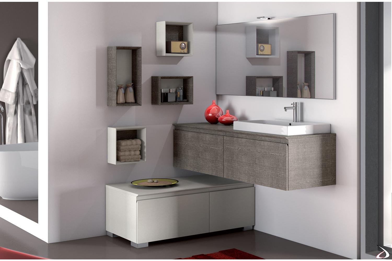 Lavabo Ad Angolo Con Mobiletto.Squadra Modern Bathroom Cabinet Toparredi Arredo Design Online