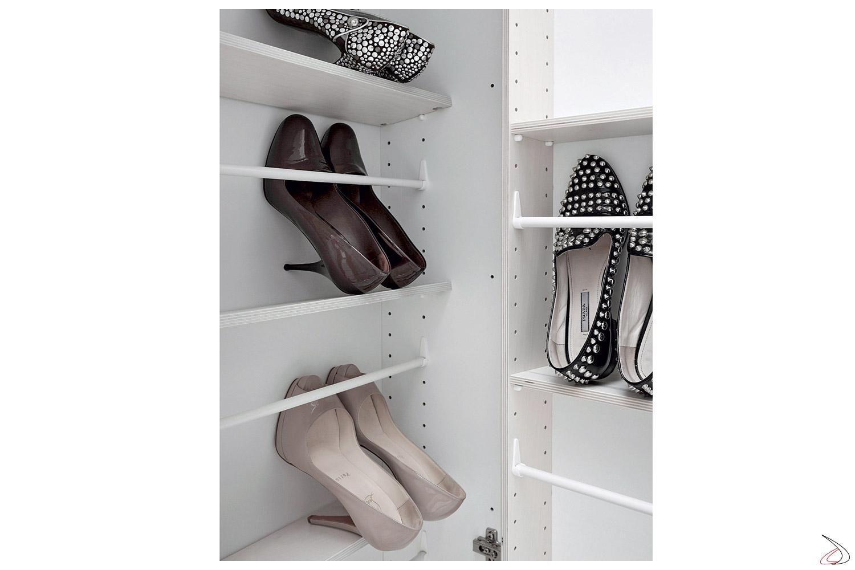 Porta scarpe in legno