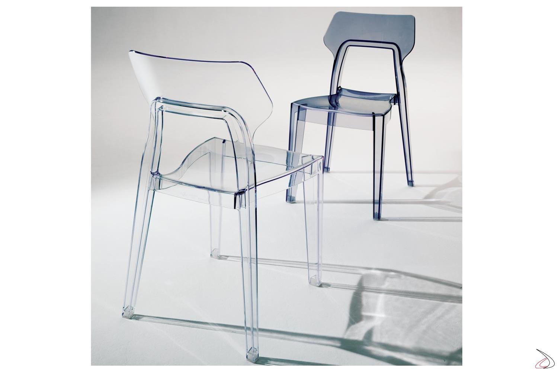 Sedia Da Cucina Plastica.Aria Modern Polycarbonate Chair By Bontempi Toparredi Arredo