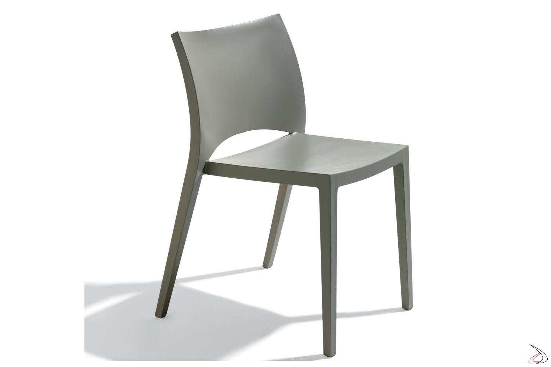 Sedie Per Esterno Plastica.Sedia Cucina Aqua Di Bontempi In Plastica Toparredi Arredo