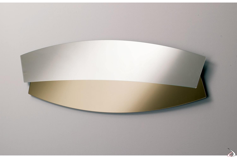 Specchio moderno orizzontale con cornice bronzata