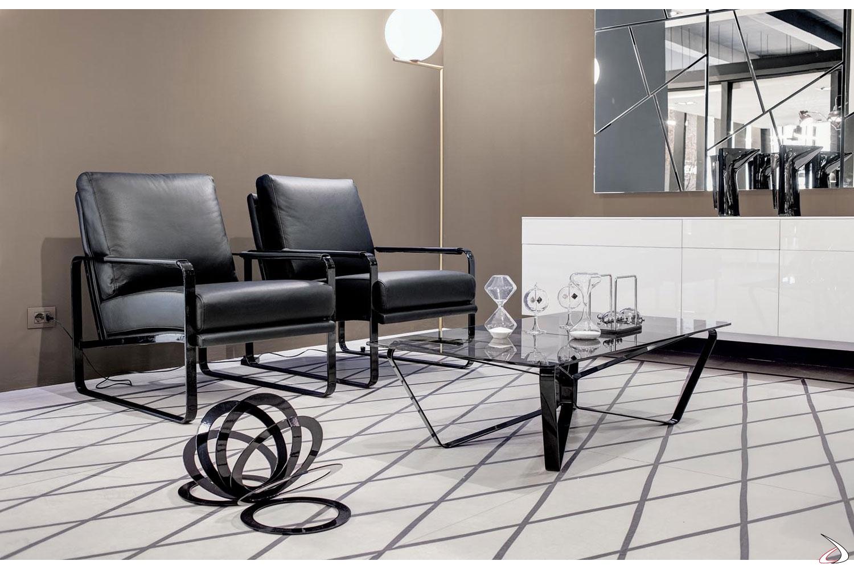 Tavolini Di Vetro Design.Tavolino Di Design Basso In Vetro Loop Toparredi Arredo Design