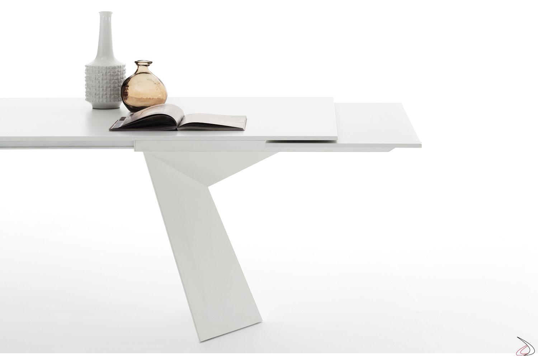 Tavolo design bianco allungabile