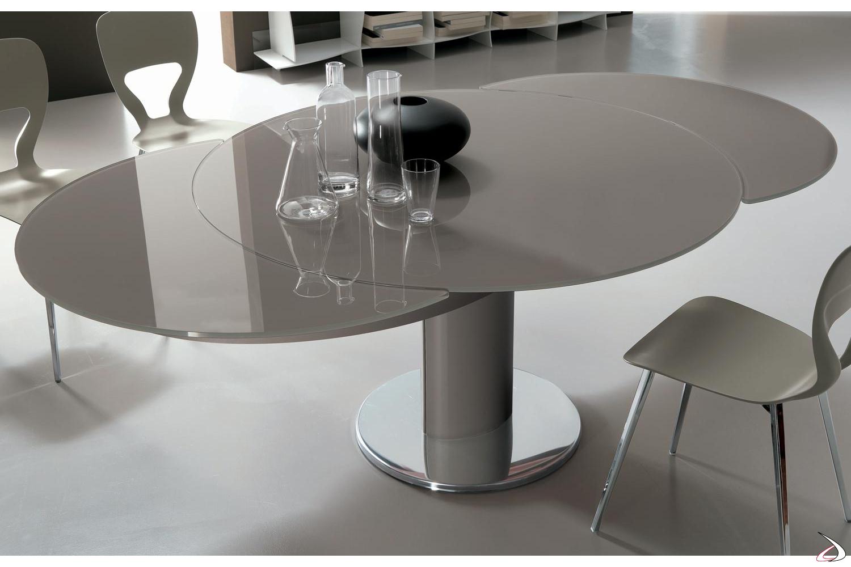 Tavolo Tondo Allungabile Cristallo.Tavolo Rotondo Allungabile Giro Toparredi Arredo Design Online