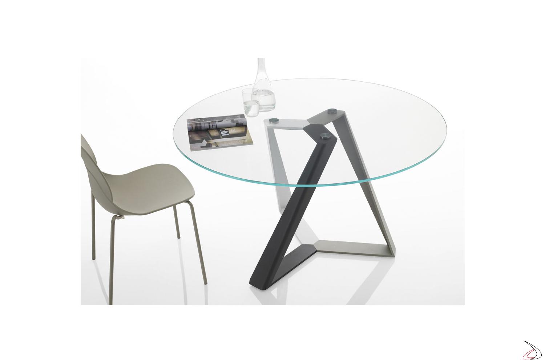 Tavoli Rotondi In Cristallo Design.Tavolo Design Rotondo Millennium Di Bontempi Toparredi Arredo