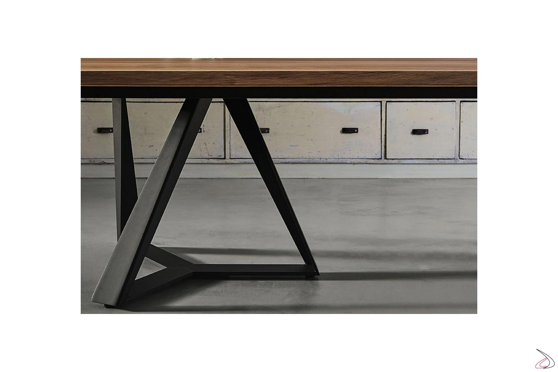 Tavolo moderno da soggiorno con doppio basamento