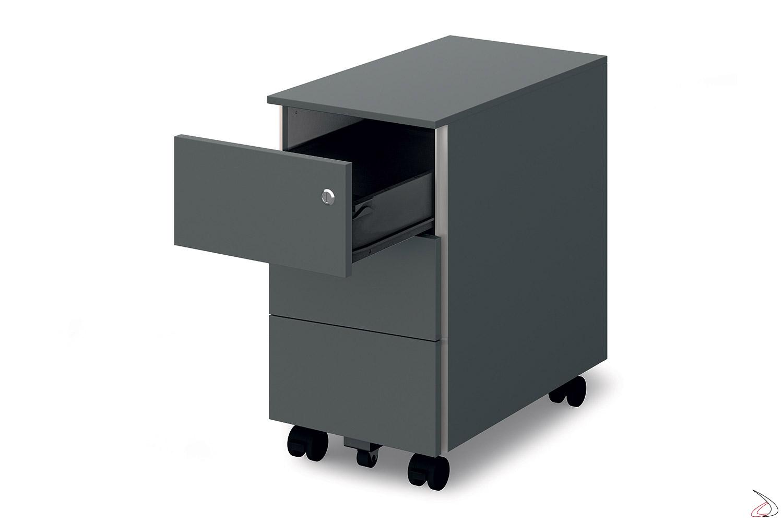 Cassettiere Da Ufficio Con Ruote.Cassettiera Ufficio Di Design Su Ruote Bison Toparredi Arredo