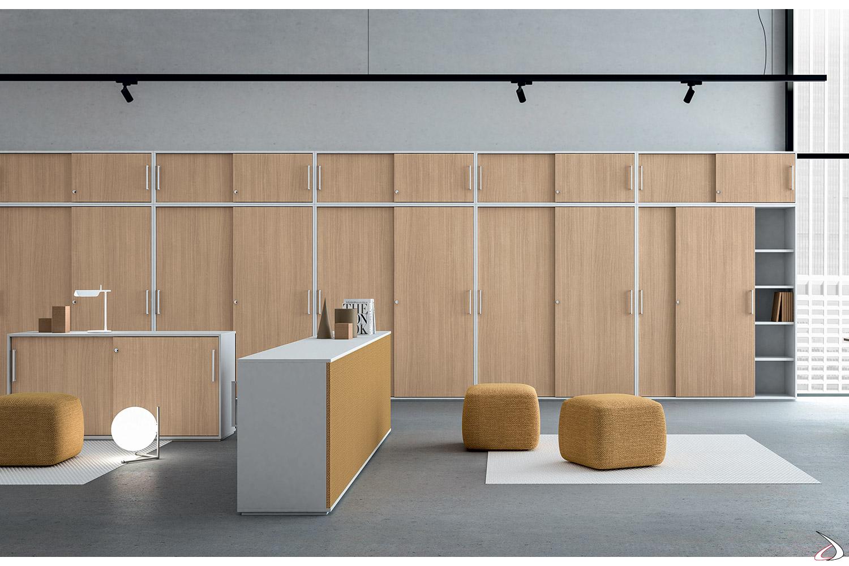 Armadio ufficio con ante scorrevoli moderno Fris | TopArredi