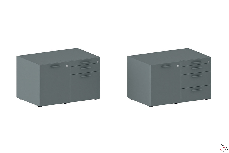 Mobile di servizio piccolo da ufficio con cassetti e classificatore porta cartellette