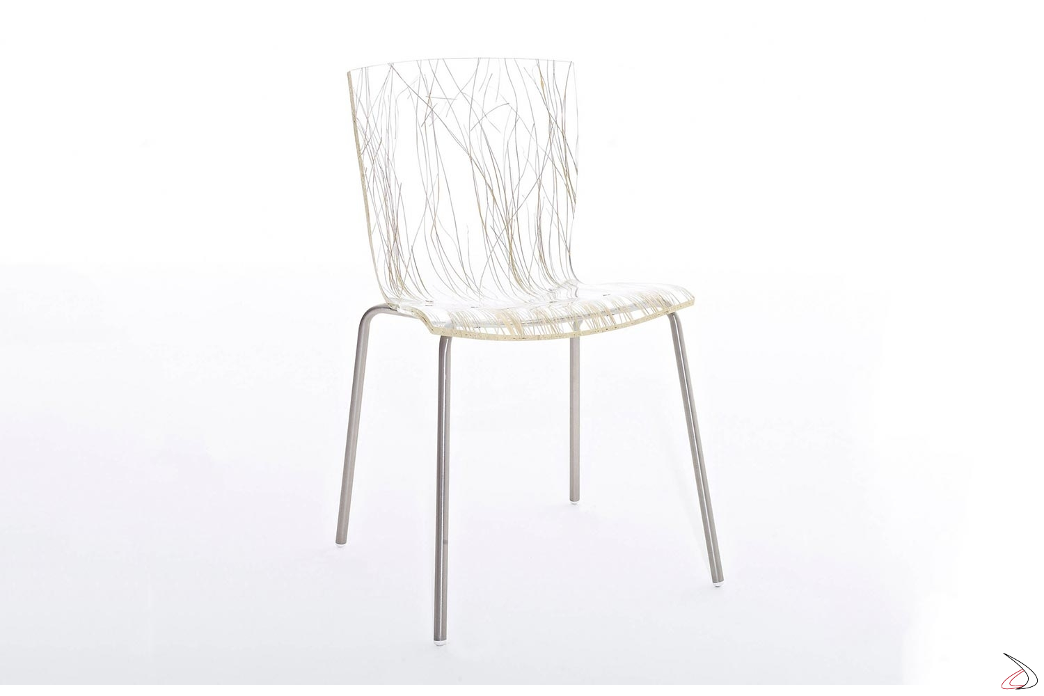 Sedie Da Cucina In Acciaio.Chair In Chromed Steel And Transparent Methacrylate Hip