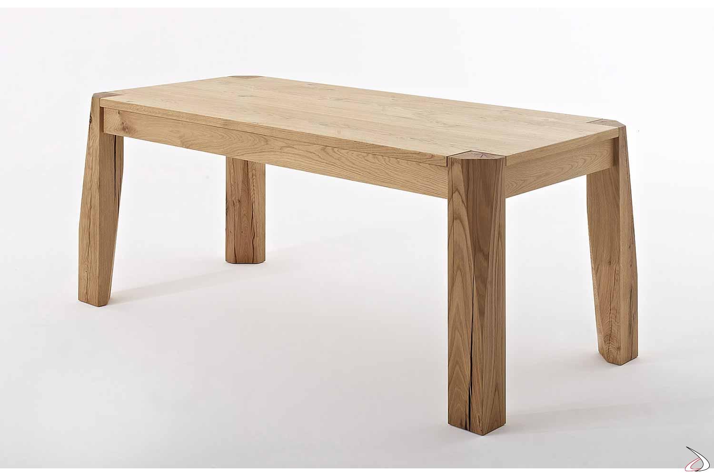 Tavolo di design allungabile per 14 persone in rovere naturale nodato