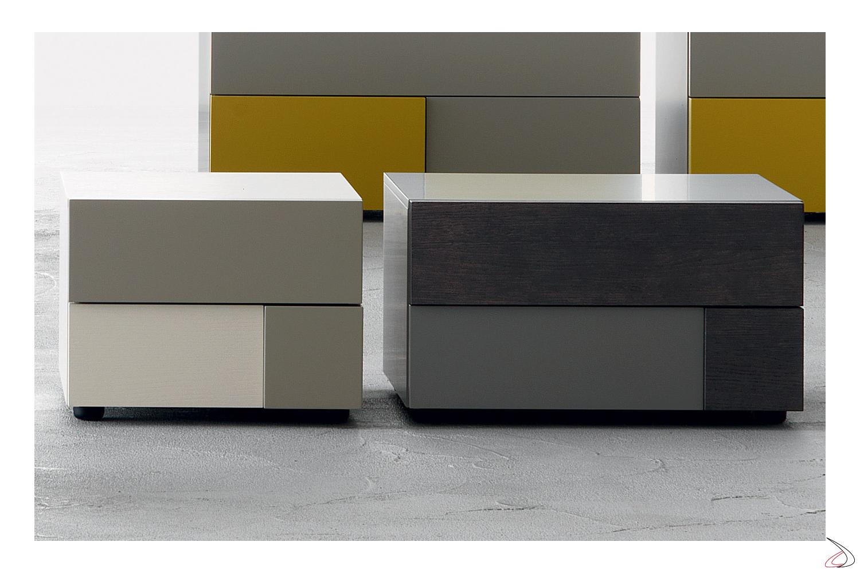 Comodini di design in legno colorati