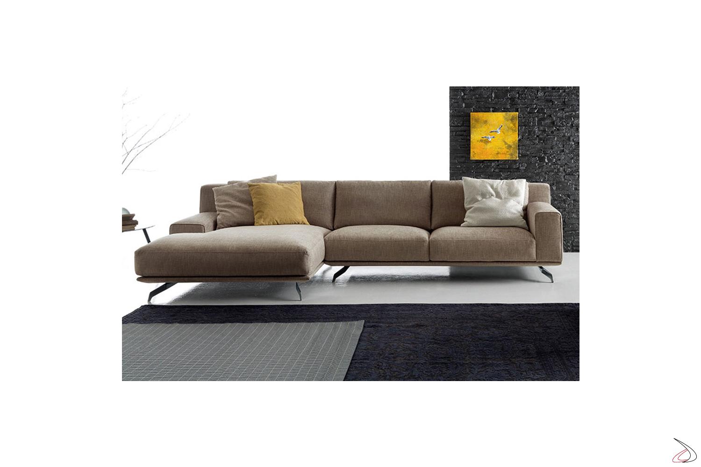 Divano design con chaise lounge da salotto